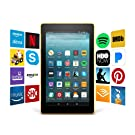 """Fire 7 Tablet with Alexa, 7"""" Display, 16 GB, Canary Yellow - with Special Offers"""