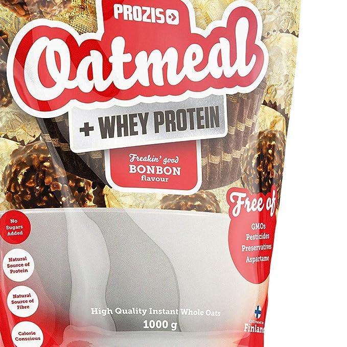 Prozis Proteína en Polvo de Harina de Avena, sabor Bonbón - 1000 g: Amazon.es: Salud y cuidado personal
