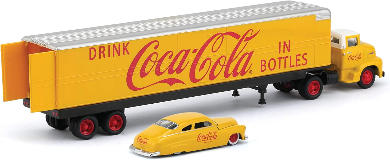 M2 Machines Auto Hauler Coca-Cola 1956 Ford COE /& 1949 Mercury Coupe