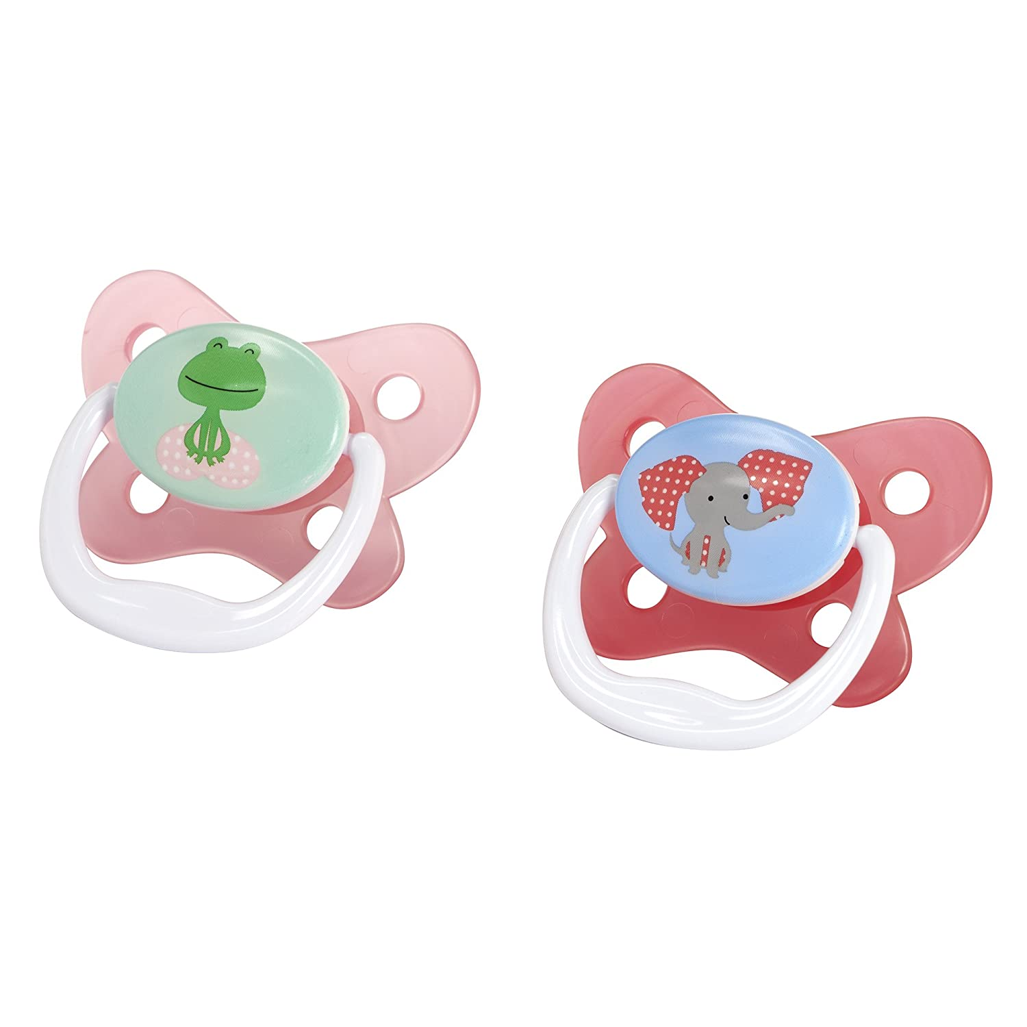Dr. Browns Prevent Contour Pacifier, Stage 2 (6-12m), Polka Dots Pink, 2-Pack