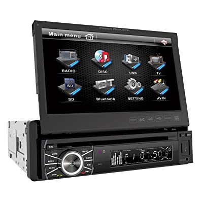 Power Acoustik PTID-8920B In-Dash DVD AM/FM Receiver with 7-Inch Flip-Out Touchscreen Monitor and USB/SD Input: Car Electronics [5Bkhe0411985]