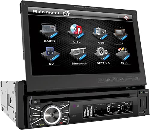 Power Acoustik PTID-8920B In-Dash DVD AM/FM Receiver with 7-Inch Flip-Out Touchscreen Monitor