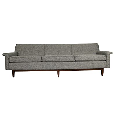 """Sunbeam Vintage Mid Century Gorgeous sleek lined 87"""" W x 31 1/2"""" L x 31"""" H seat height 19"""" Weight: 100lbs Modern or vintage style Ash color sofa"""