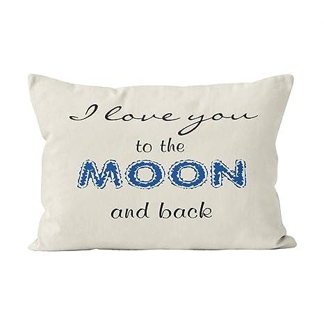 Wermi Hot I Love You to The Moon and Back - Funda de cojín ...