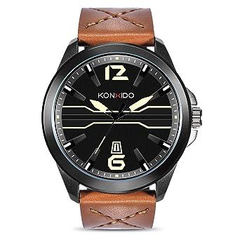 Amazon.com: KONXIDO Reloj de pulsera, de moda, correa de ...