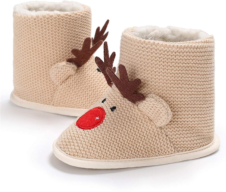 Infant Baby Girl Boots Shoes Warm Wool Snow Winter Anti-Slip Newborn Toddler Prewalker For 0-12 Months
