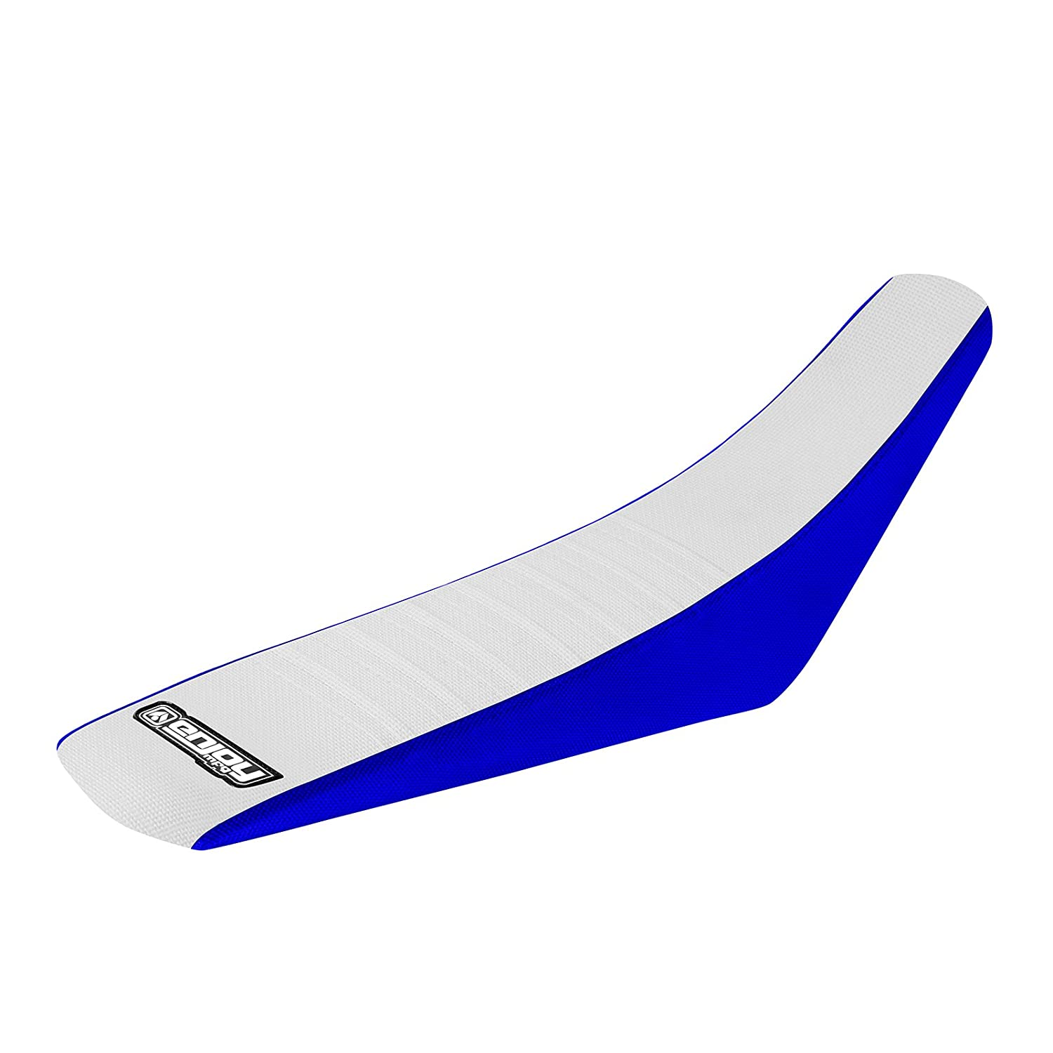 Blue Sides White Top Pleated Enjoy MFG Pleated Seat Cover for 2000-2007 Yamaha TTR 125