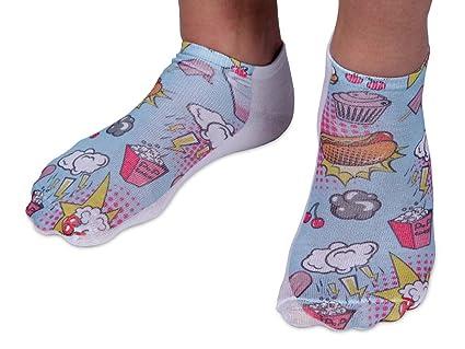 Calcetines cortos de tobillo con motivos, talla 36-39 para mujer o chicas y