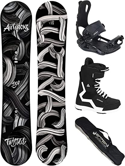 Fixations Master FASTEC Chaussures DE Snowboard+SB Sac//Neuf AIRTRACKS Snowboard Set//Pack Planche Twisted Rocker