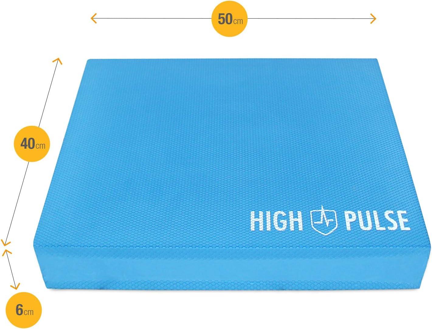 High Pulse/® XXL Balance Pad inkl 3X Fitnessb/änder Balancekissen f/ür EIN verbessertes Gleichgewicht Koordination und Stabilit/ät Schwarz Poster