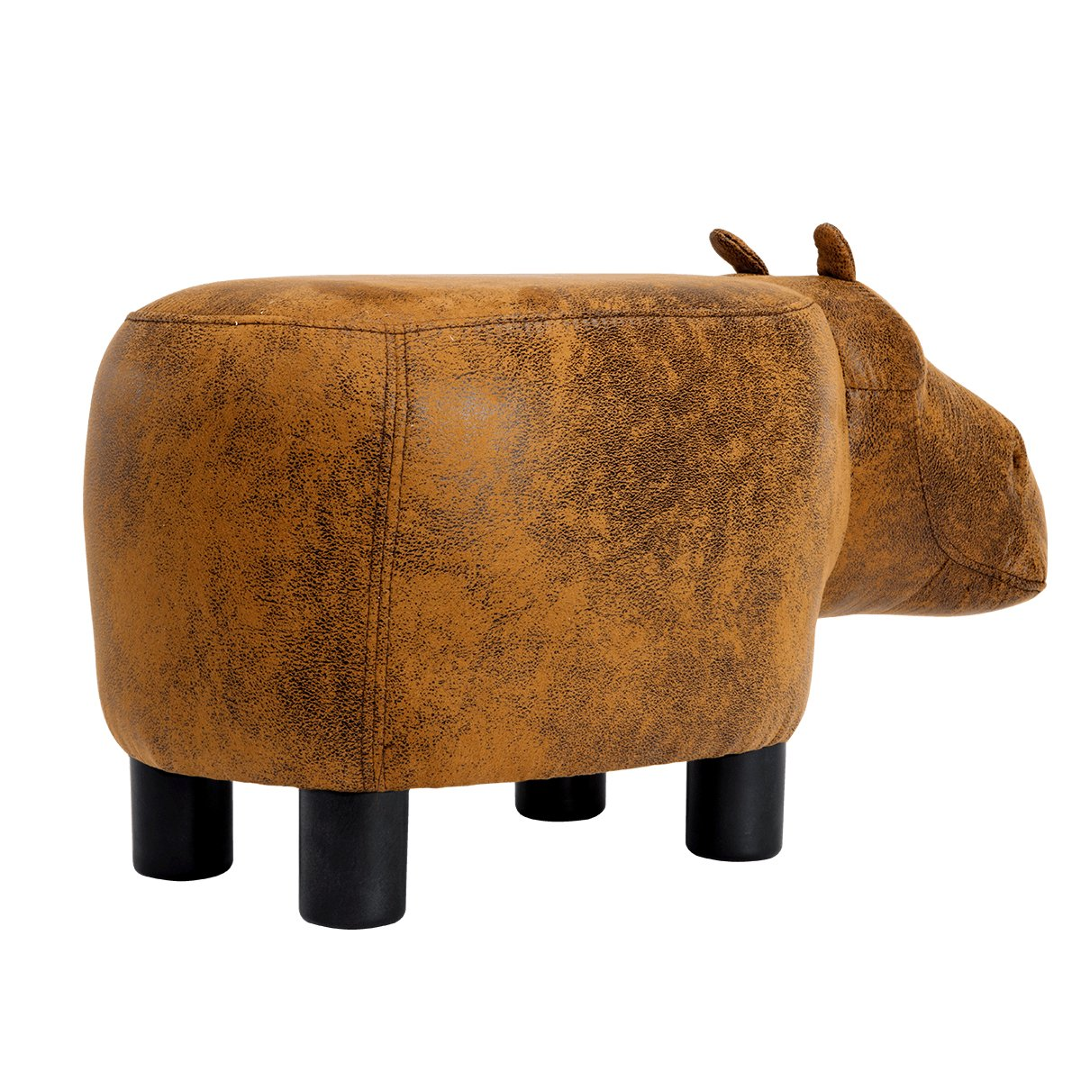 Guteen Upholstered Ride-on Toy Seat Ottoman Footrest Stool with Vivid Adorable Animal-Like Features(Brown Hippo) by GUTEEN (Image #7)