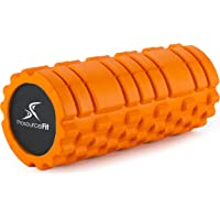 ProSource Fit Sports Medicine Foam Roller 33x15 cm with Grid for Deep-Tissue Massage and Trigger-Point Muscle Therapy