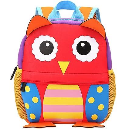 128cc246e09b Delune Children 3D EVA Orthopedic Backpack Cartoon Bear Owl Book Bag Girls  Portfolio School Bags Pupils Mochila Protect Spine