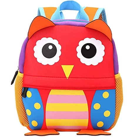 6012b9ad29a Amazon.com   MODARANI Childlike Mini Owl Printed Nursery School Backpack  Cartoon Toddler Boys Girls Book Bag (owl)   Kids  Backpacks