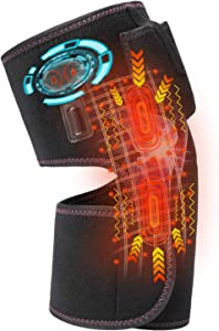 Hunt Heated Knee Brace Massager for Pain Relief Men Women,Heating Pad Vibration Massager Foot for Muscles Pain Relief,Rechargeable Infrared Knee Heating Wrap for Knee Injury,Cramps Arthritis Recovery