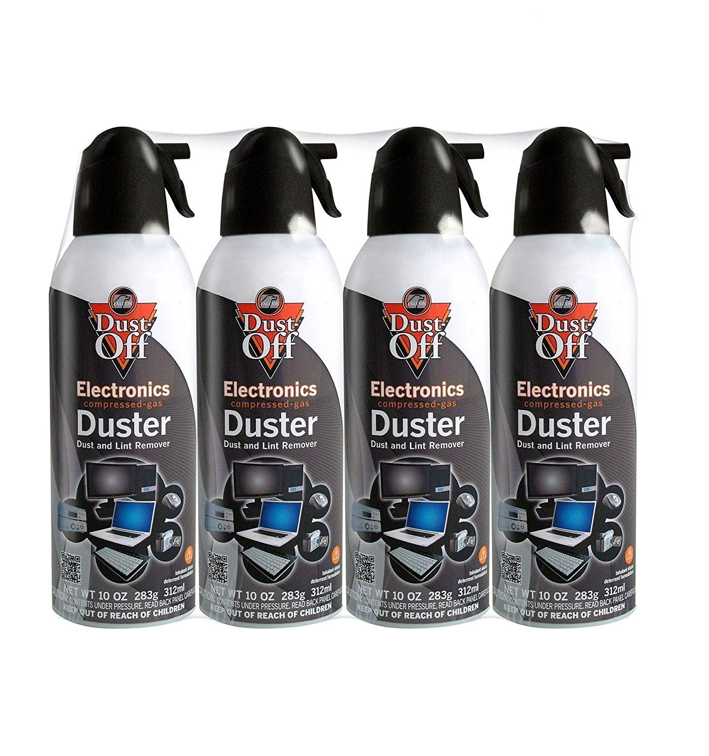 Falcon Compressed Gas (152a) Disposable Cleaning Duster 4 Count, 10 oz. Can (DPSXL4T) (3 Pack(4 Count