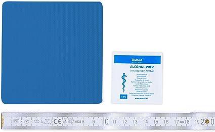 Parche para reparar lonas de Flickly, disponible en muchos colores, 10 cm x 10 cm, autoadhesivo