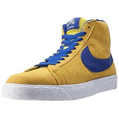 best service 92629 124fc Nike Skateboarding Zoom Blazer Mid, Sandales Compensées Homme - Jaune -  JauneBleu, Amazon.fr Vêtements et accessoires