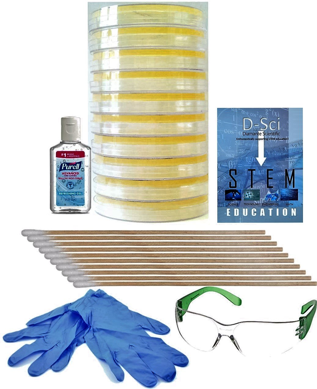Complimentary Project Guide eBook Available. Premium Bacteria Science Fair Project Kit Learn About Microbiology Safest Bacteria Kit For Students Includes Gloves and Safety Glasses