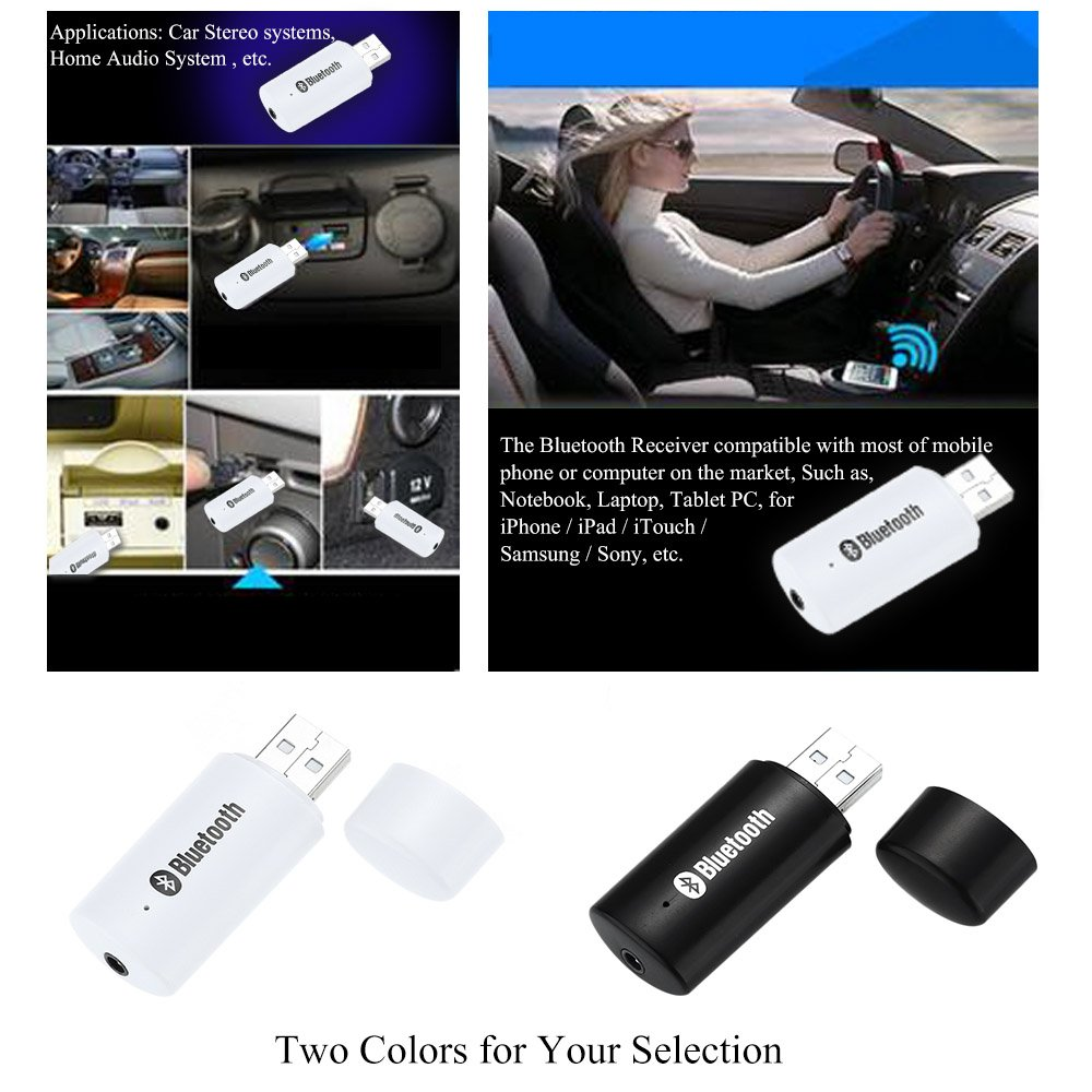 Docooler Mini Portátil USB de 3.5mm de Audio Inalámbrico Bluetooth Adaptador de Audio y Audio Del Coche Car Home Audio System: Amazon.es: Electrónica