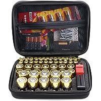 Surdarx Batteries Organizer Storage Holder, Included Battery Tester BT-168, Keeper Bag Hard-top Carrying Case Box- Holds…