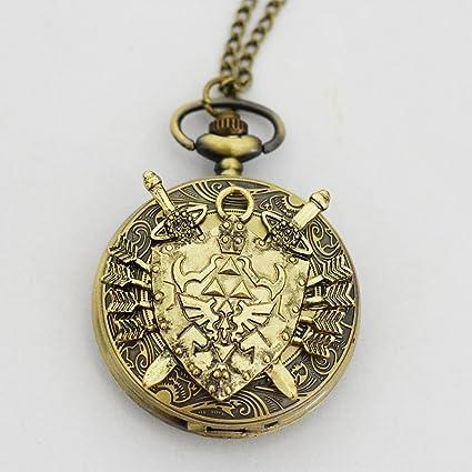 Amazon legend of zelda hylian shield necklace watch charm legend of zelda hylian shield necklace watch charm pendant watch link zelda watch aloadofball Choice Image