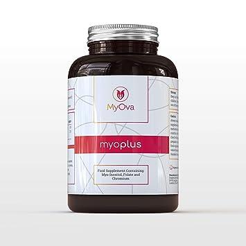 MyOva Myo-Plus - Natürliches Nahrungsergänzungsmittel bei PCOS - 4000 mg Myo-Inositol, 200 µg Folsäure, 100 µg Chrom - 120 Ta