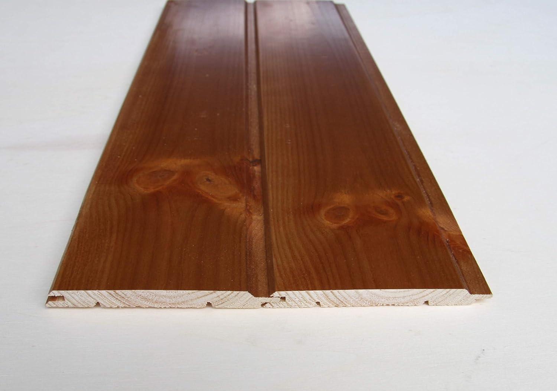 Perline per rivestimento in legno di pino mm.9,5x100 mt.1