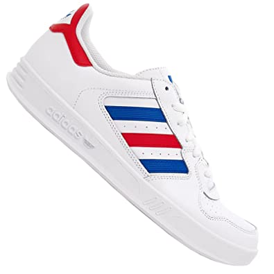 d567e94bef6 adidas Originals Tennis Court Top Vintage Baskets Chaussures de Sport Blanc  Rouge Bleu - Blanc -