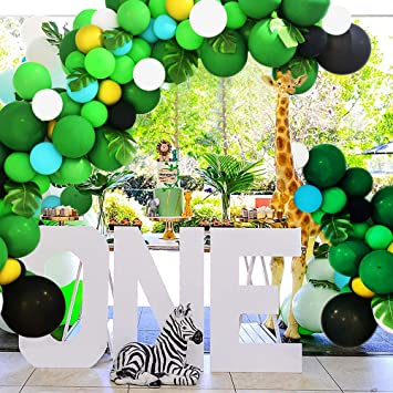 Balloon Arch Kit -8 Pcs of jungle theme party supplies. Balloons backdrop  background decoration for birthday party, Camping, classroom, decorating