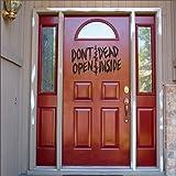 MairGwall Halloween Spooky Decor -Don't Open Dead Inside -Room Decoration (X-Large,Black)