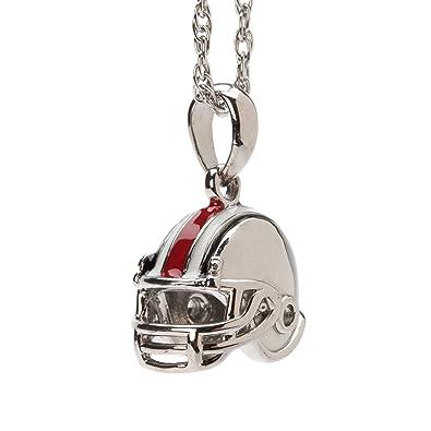 Amazon ohio state buckeyes football helmet pendant with chain ohio state buckeyes football helmet pendant with chain ohio state necklace ohio state jewelry aloadofball Image collections