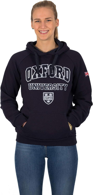 Felpa con Cappuccio da Donna Genesis Oxford University Inghilterra Union Jack