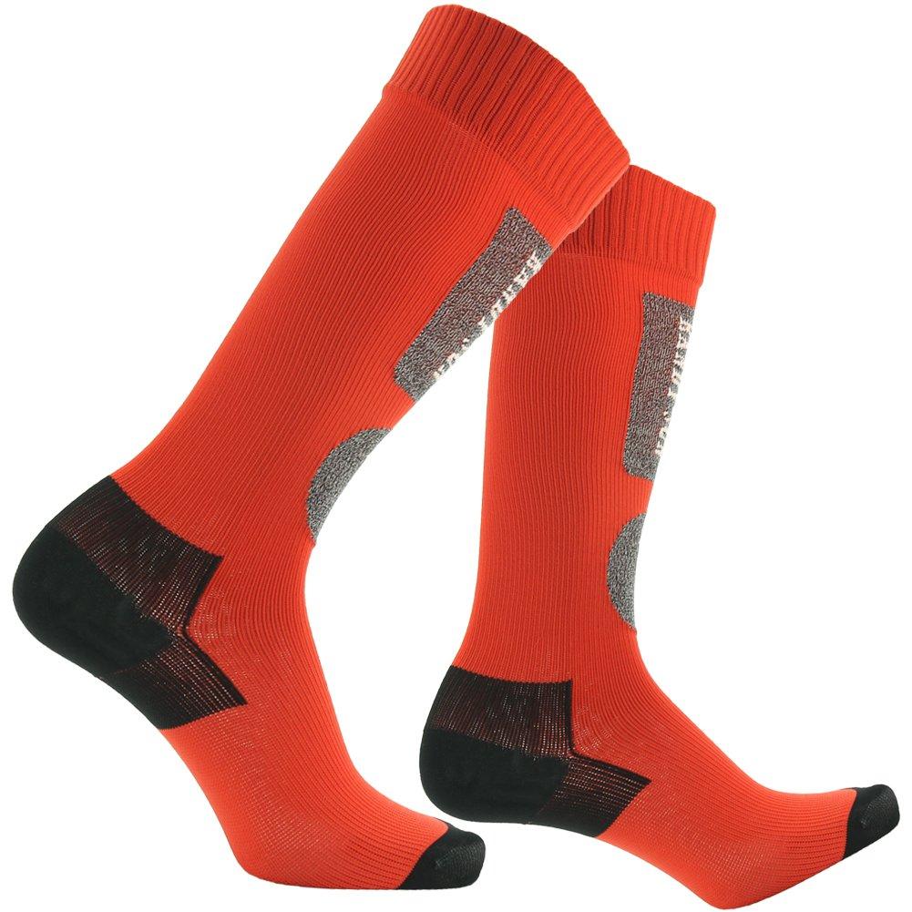 Waterproof Cycling Socks, [SGS Certified]RANDY SUN Men's Fashion Sking Socks Red&Black by RANDY SUN