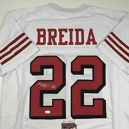 82e915807 Matt Breida Autographed Jersey - White COA - JSA Certified - Autographed  NFL Jerseys