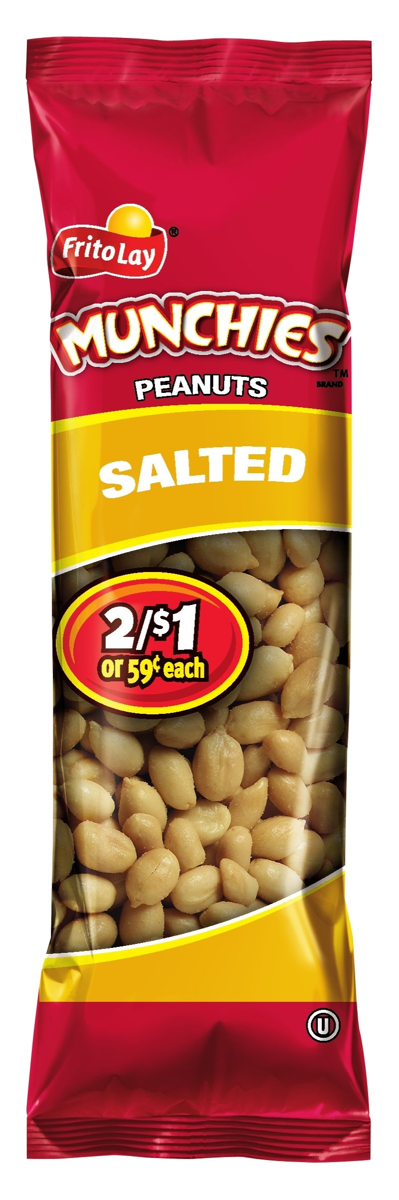 Munchies Peanuts, Salted, 1.63 Ounce (Pack of 32) by Munchies