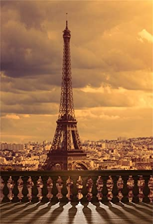 AOFOTO 6x8ft Eiffel Tower Background Vintage City Landscape Photography  Backdrop Urban Buildings Scenery Lovers Adult Woman