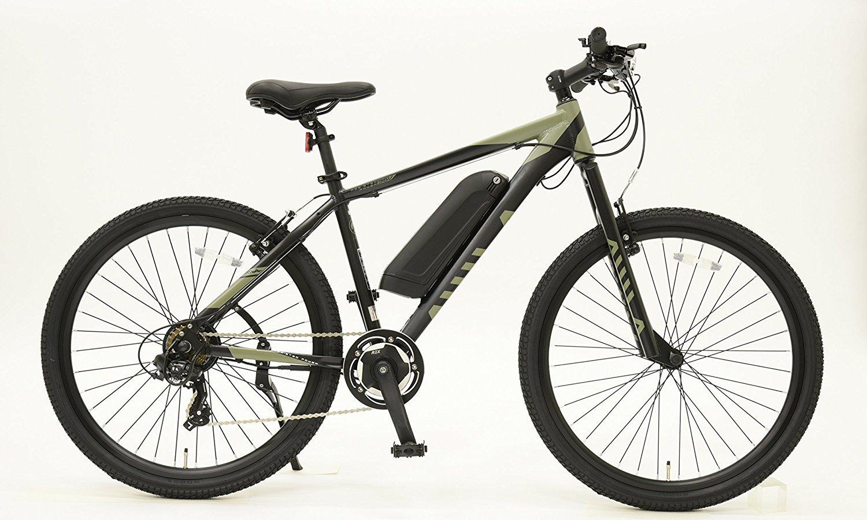 電動アシスト自転車 26インチ 完成車 マウンテンバイク MTB EISAN(エイサン) AS-267-E 充電器付き B079DKDW5Kカーキ