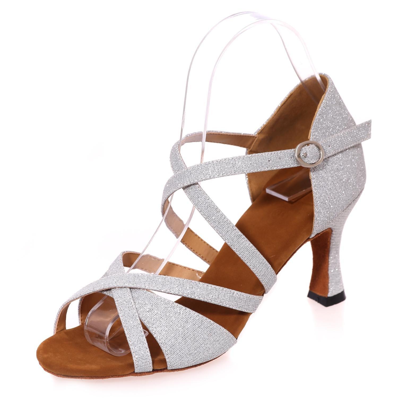 L@YC Chaussures De Danse FéMinine Latine Jaune Bleu Marron Rouge Blanc Noir Blanc 41 EU