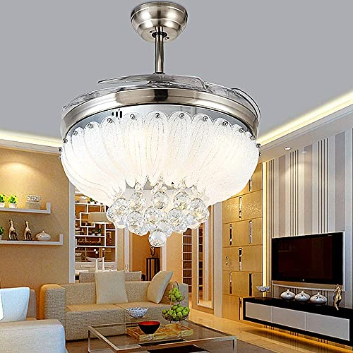 Lighting Groups 42″ Retractable Clear Blades Fan and Chandelier