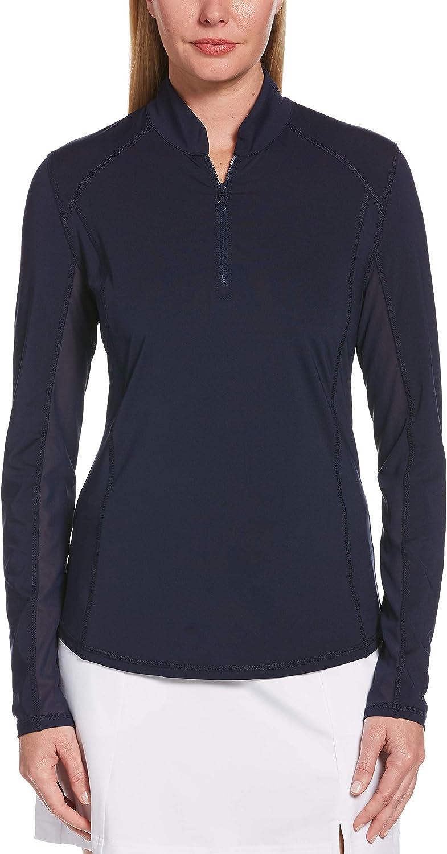 PGA TOUR Women's 1/4 Zip Long Sleeve Sun Protection Shirt
