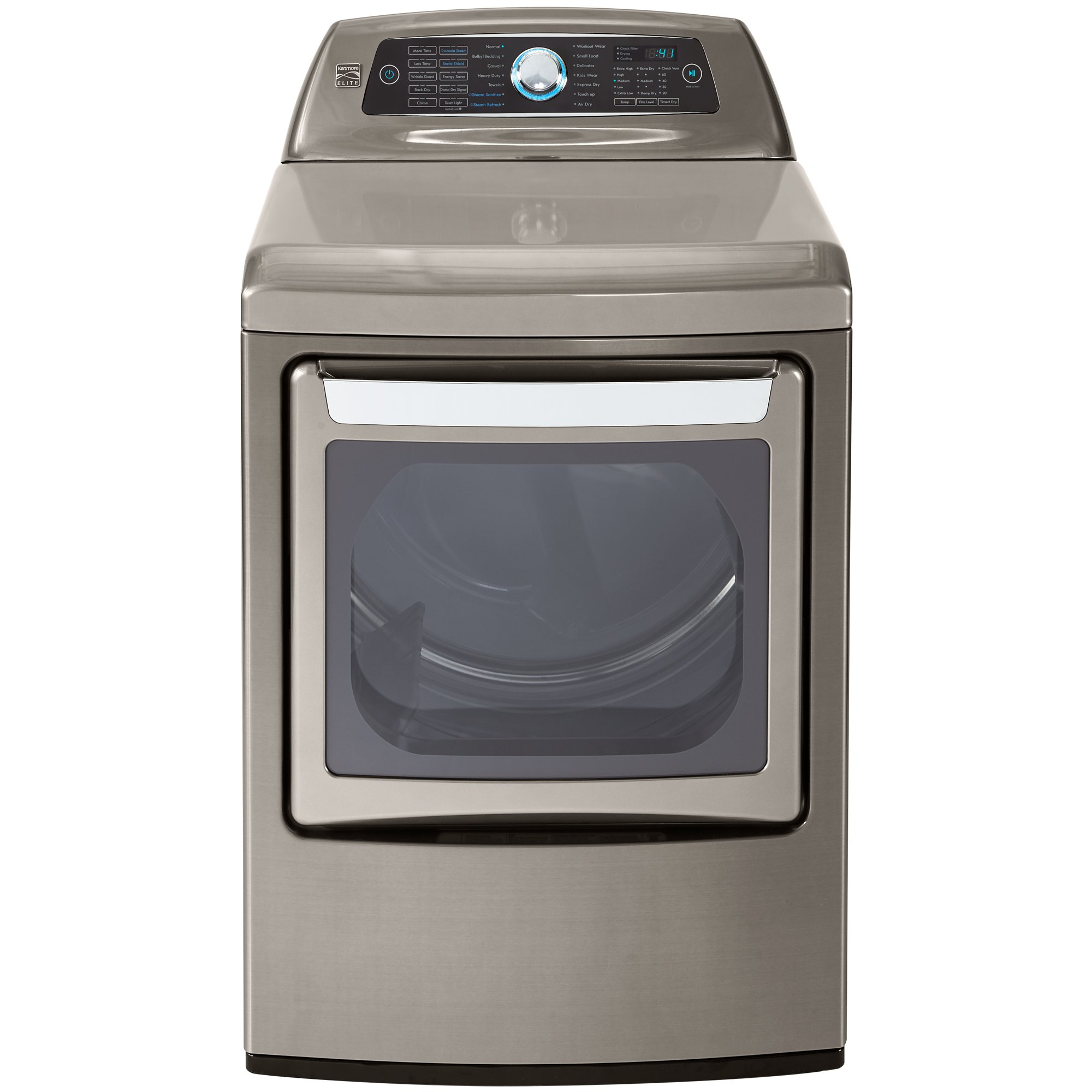 Kenmore Elite 61553 7.3 cu. ft. Electric Dryer in Silver, includes delivery and hookup,Metallic Silver