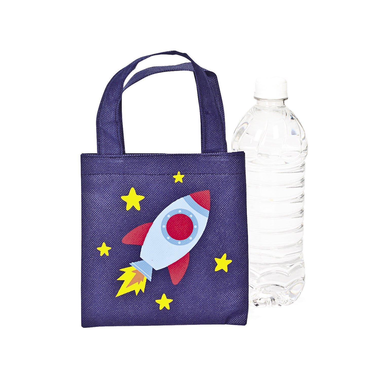 Mini Spaceship Tote Bags - 12 ct by Fun Express (Image #1)