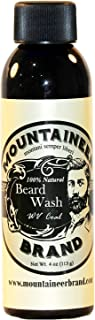 product image for Beard Wash by Mountaineer Brand (4oz)   WV Coal Scent (Peppermint & Patchouli)   Premium 100% Natural Beard Shampoo
