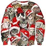 RAISEVERN Unisex Sweatshirt for Men Women Cool Pullover Streetwear Crewneck Long Sleeve Top