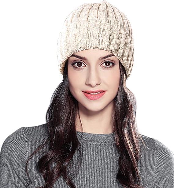 Superora Inverno Cappello Donna Lavorato a Maglia Cappelli Beanie  Intrecciato Elegante Invernale  Amazon.it  Abbigliamento 42b5e2bfbddf