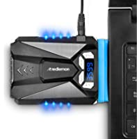 Redlemon Ventilador para Laptop Externo USB, Enfriador Portátil con Pantalla Digital, 5 Velocidades, Conexión USB, Fácil…