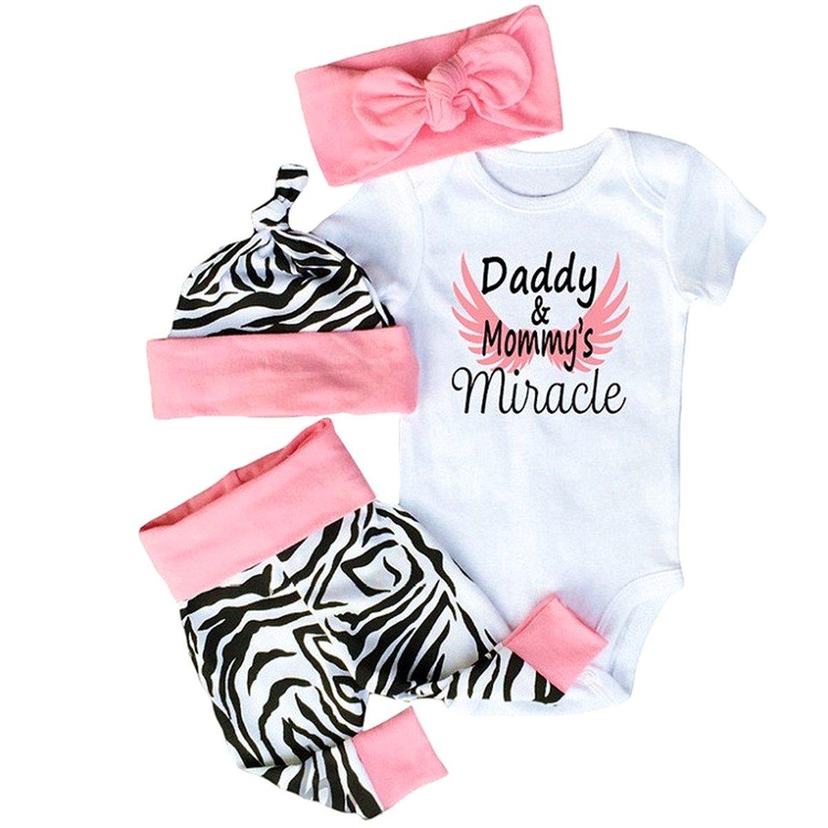 be1e037b6ed9 Amazon.com  WINZIK Newborn Baby Kids Outfits Daddy and Mommy s ...