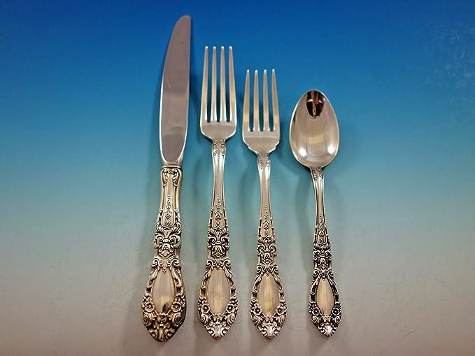 "Salad Fork In Prince Eugene Sterling Silver By Alvin 6 3//4/"""