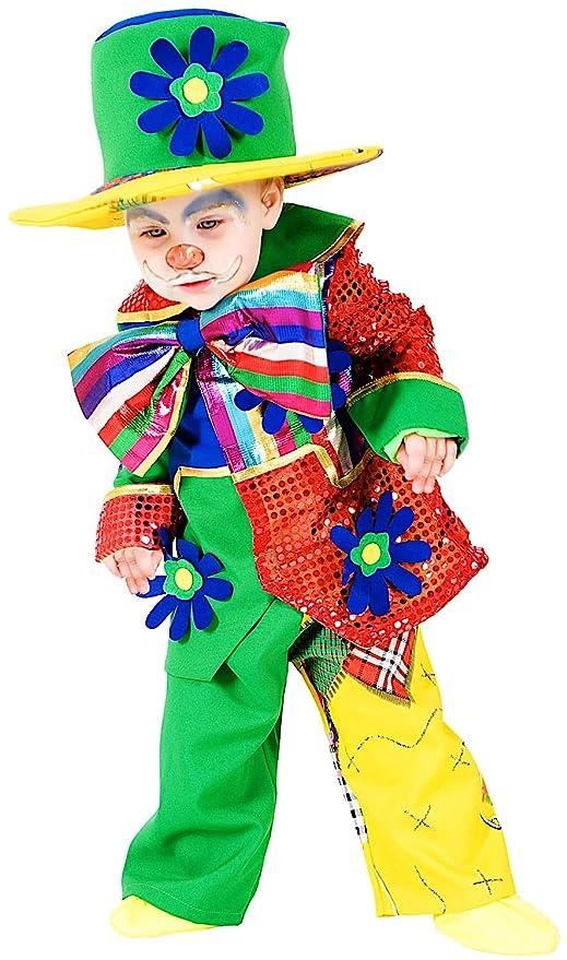 a02d0338d7b8 COSTUME di CARNEVALE da PICCOLO PAGLIACCIO vestito per neonato bambino 0-3  Anni travestimento veneziano